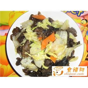 素炒黑白菜