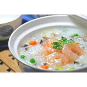 虾仁蜜桃粥