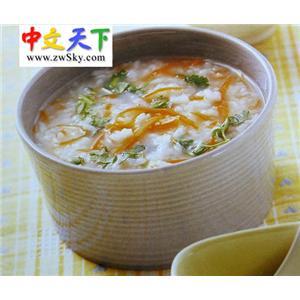 胡萝卜香菜粥