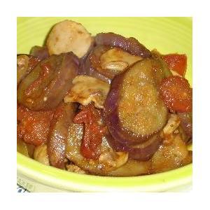西红柿蘑菇炒茄子