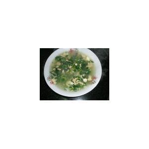茼蒿菜鸡蛋白汤
