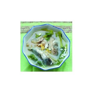 芥菜咸蛋鱼头汤