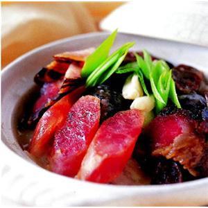 西红柿萝卜咸肉汤