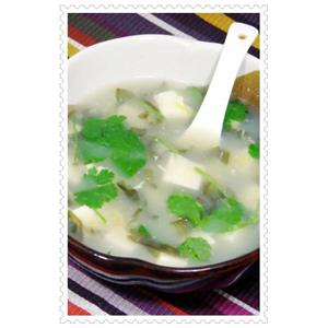 紫菜豆腐虾米瘦肉汤