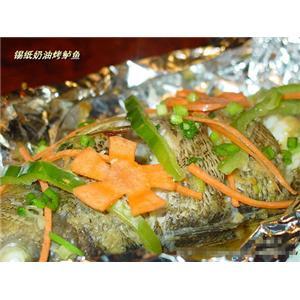 锡纸奶油烤鲈鱼