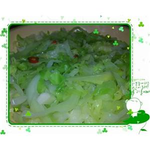凉拌生包菜
