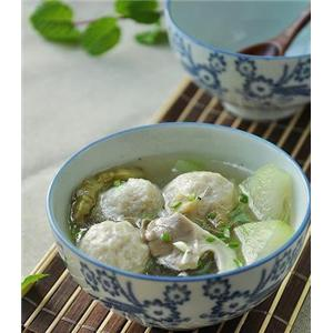 冬瓜蘑菇鱼丸汤