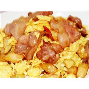 烟肉薯仔炒鸡蛋
