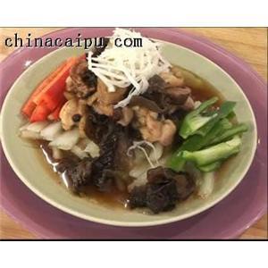 白菜香菇素翅汤