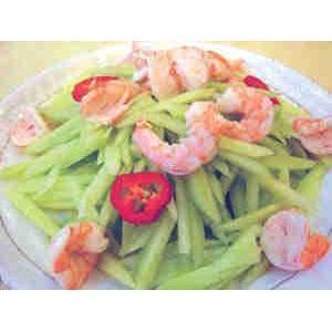 蚝油青虾拌瓜条