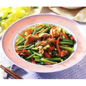 生炒蒜苔肉