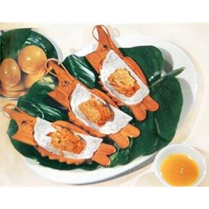 甘柠芝麻虾