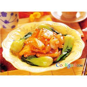 海参虾仁炒掐菜