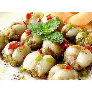 鲜百合煎酿绿豆