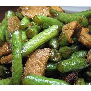 肉片焖扁豆