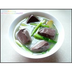 韭菜鸡红汤