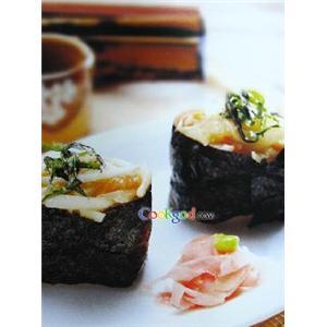 鱼肉蜜瓜寿司