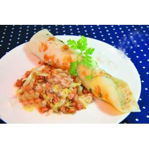猪肉蔬菜卷饼