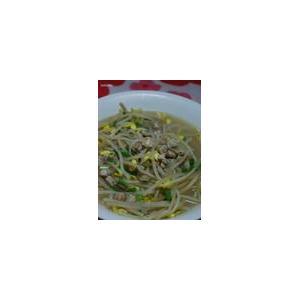 大豆芽菜滚蚬肉汤