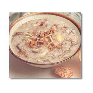 香菇油菜面筋粥