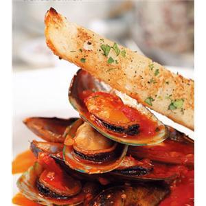 羊柳卷配蒜香番茄汁