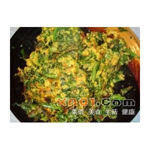 清明菜炒鸡蛋