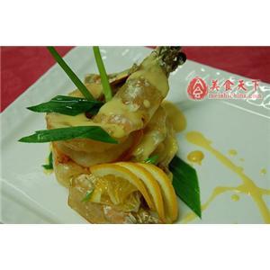 煎烤大明虾配奶油明虾汁