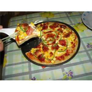 鸡蛋香肠比萨