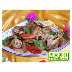 芹菜炒蛤蜊肉