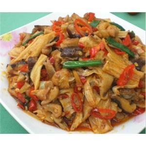 香菇腐竹炒鸡肉