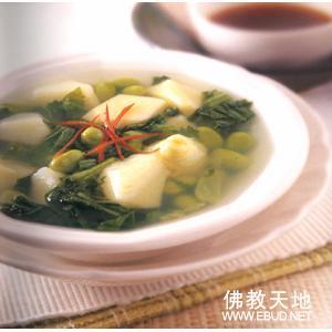 芹菜金菇竹笋汤