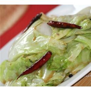 青椒炒卷心菜