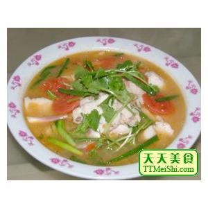 菜远鱼片汤
