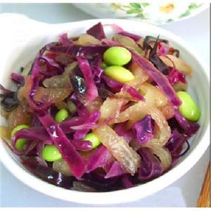 凉拌紫包菜