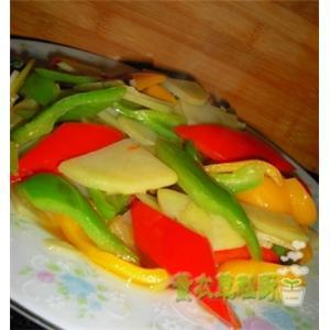 彩椒土豆片