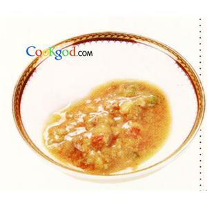 虾酱茼蒿炒豆腐