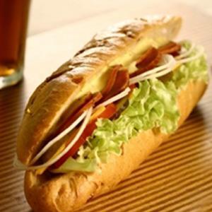 生菜烧肉三明治