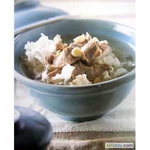 南北杏西洋菜银耳百合汤
