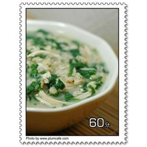 鸡丝菠菜粥