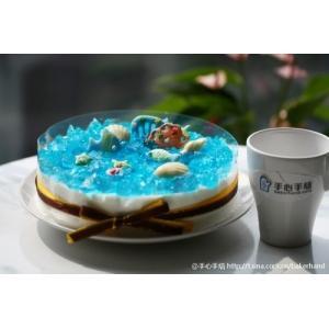 蓝色海洋酸奶慕斯蛋糕
