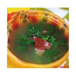 菠菜羊肝鸡蛋汤