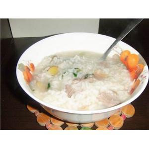 猪肉青菜粥