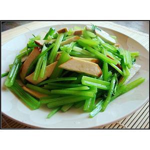 肉丝香干炒芹菜