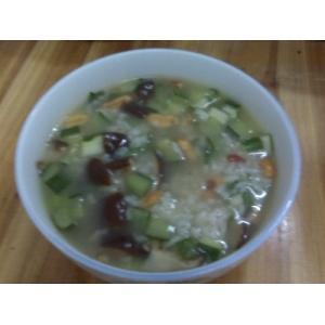 香菇青花粥