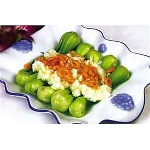 彩蛋海米烧油菜心
