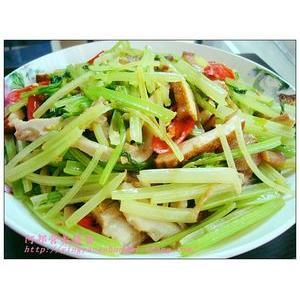 小炒香干芹菜