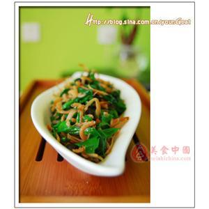 熏干炒韭菜
