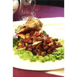焖鲜蘑鸭肝沙司