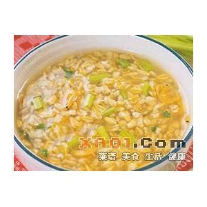 虾皮香芹燕麦粥