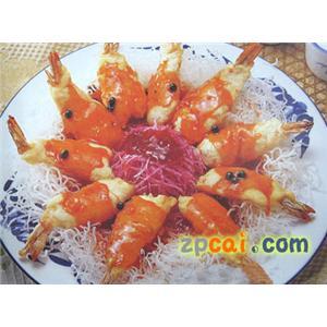 蒸雪丽凤尾虾